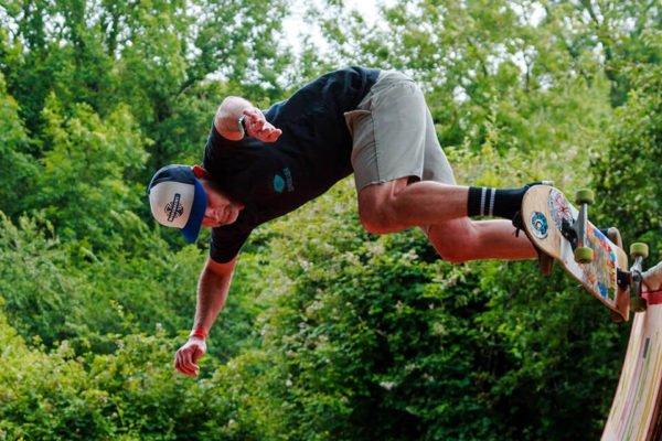 Skateboarding in the Kid's Zone Field