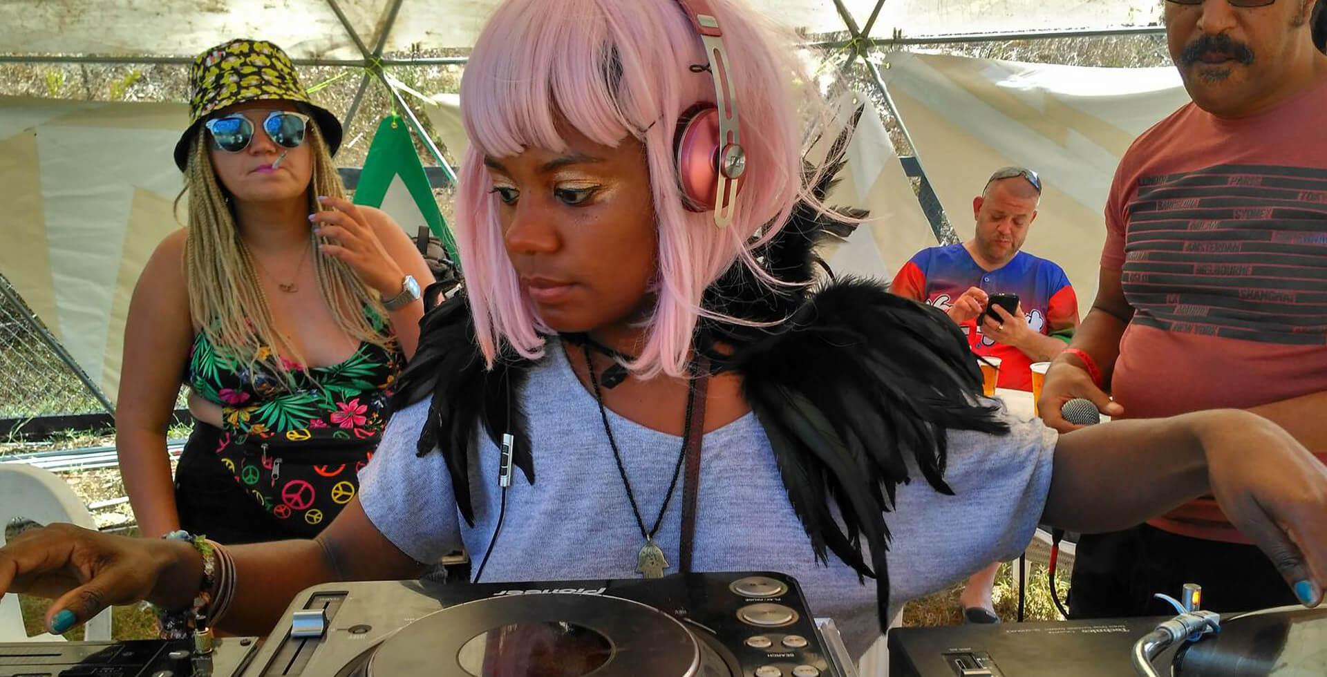 DJ Sherrine at Wilkswood Reggae 2018