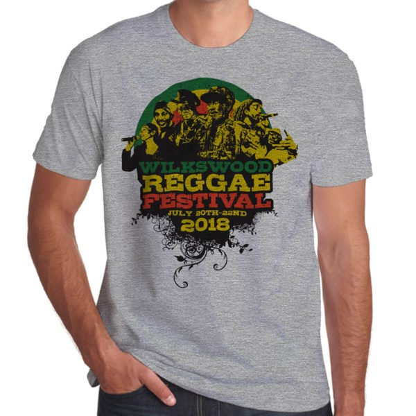 Wilkswood Reggae Festival 2018 grey marl t-shirt