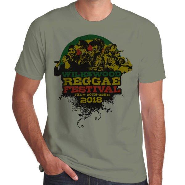 Wilkswood Reggae Festival 2018 khaki t-shirt