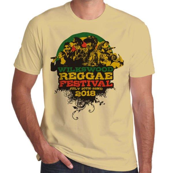 Wilkswood Reggae Festival 2018 sand t-shirt