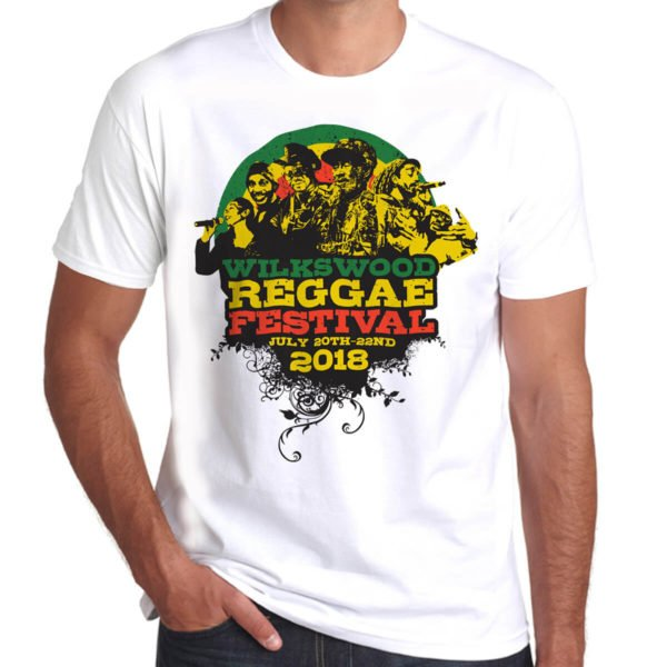 Wilkswood Reggae Festival 2018 white t-shirt