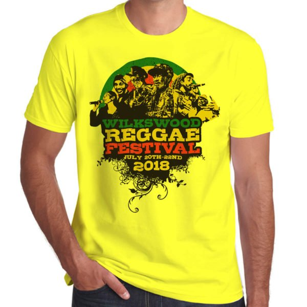 Wilkswood Reggae Festival 2018 yellow t-shirt