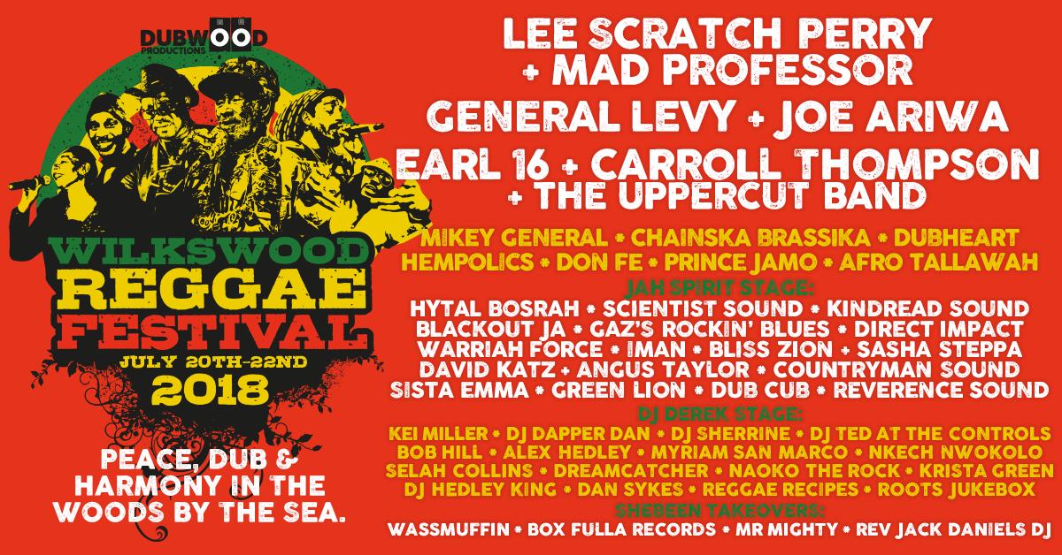Wilkswood Reggae 2018 Final Line-up