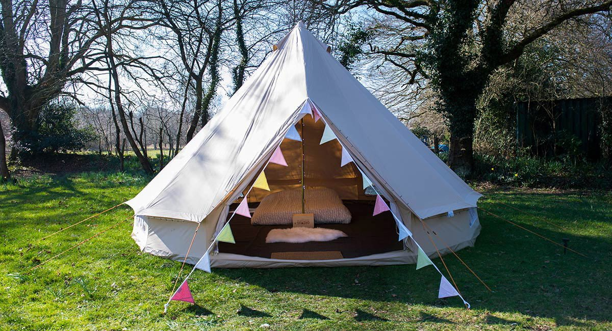 Honeybells luxury belltents at Wilkswood Roots Reggae 2019