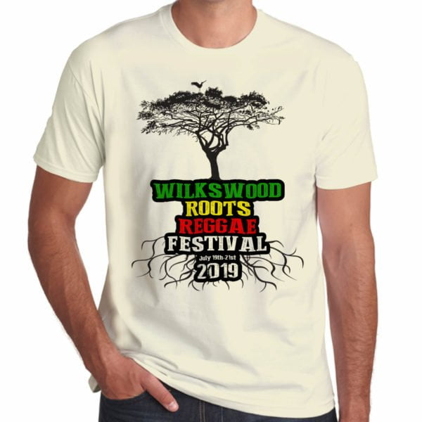Wilkswood Reggae Festival 2019 cream t-shirt