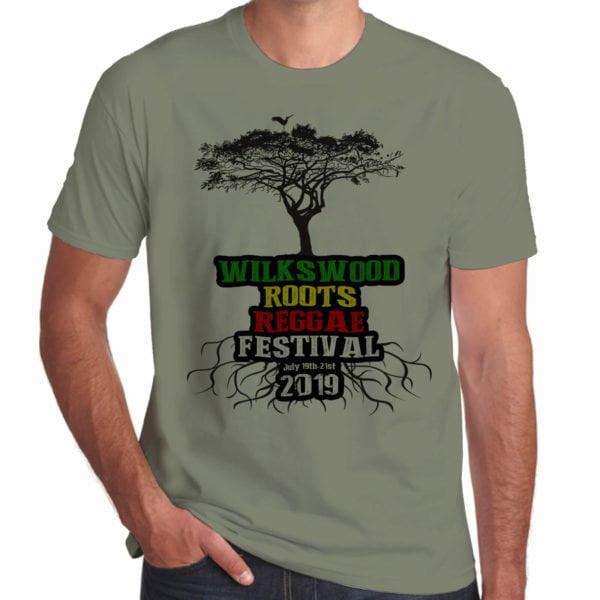 Wilkswood Reggae Festival 2019 khaki t-shirt