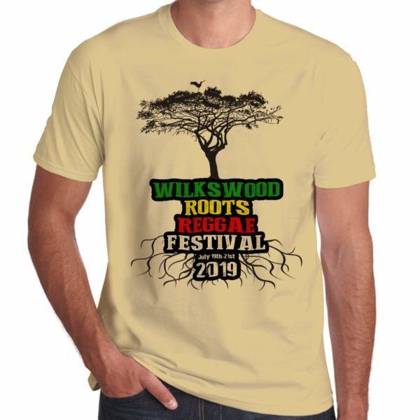 Wilkswood Reggae Festival 2019 sand green t-shirt