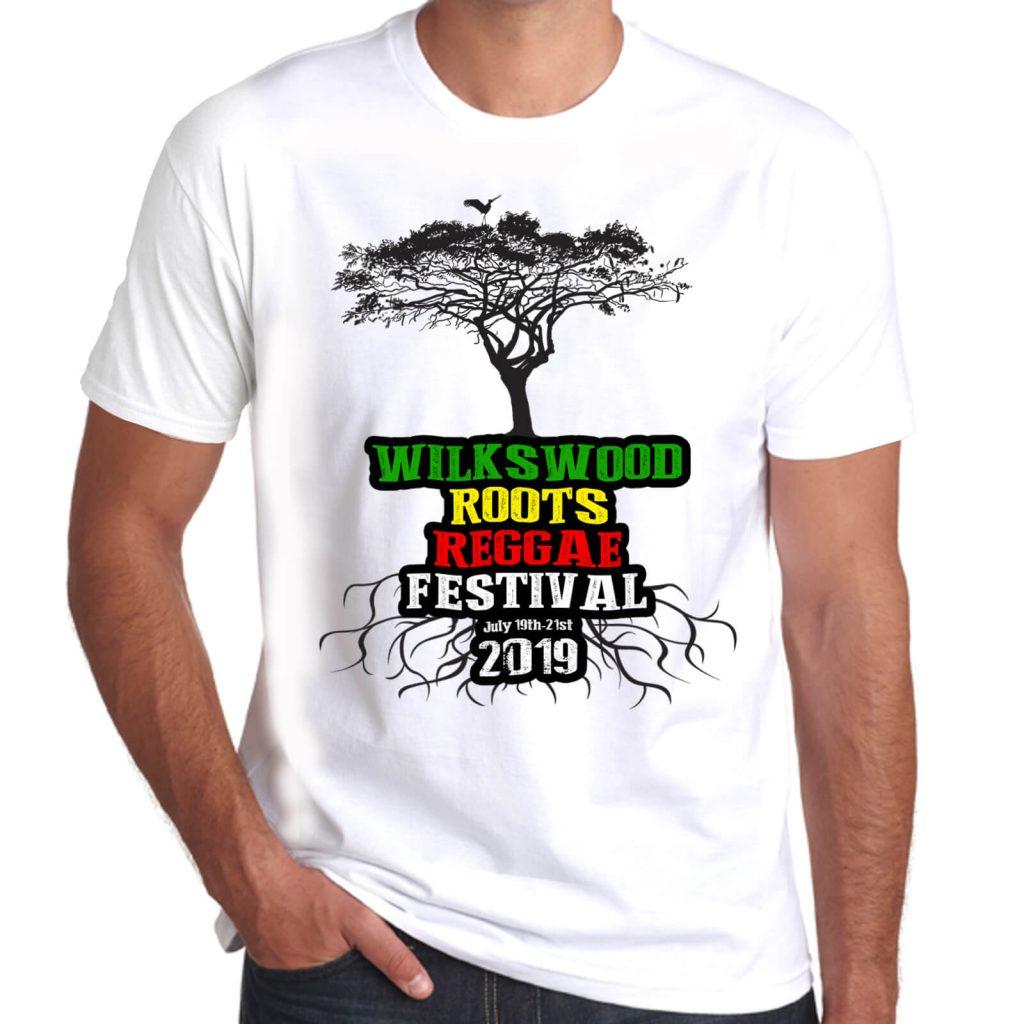 Wilkswood Reggae Festival 2019 white t-shirt