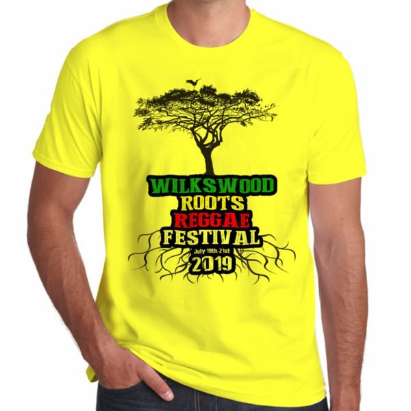 Wilkswood Reggae Festival 2019 yellow t-shirt