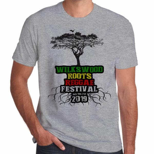 Wilkswood Reggae Festival 2019 grey marl t-shirt