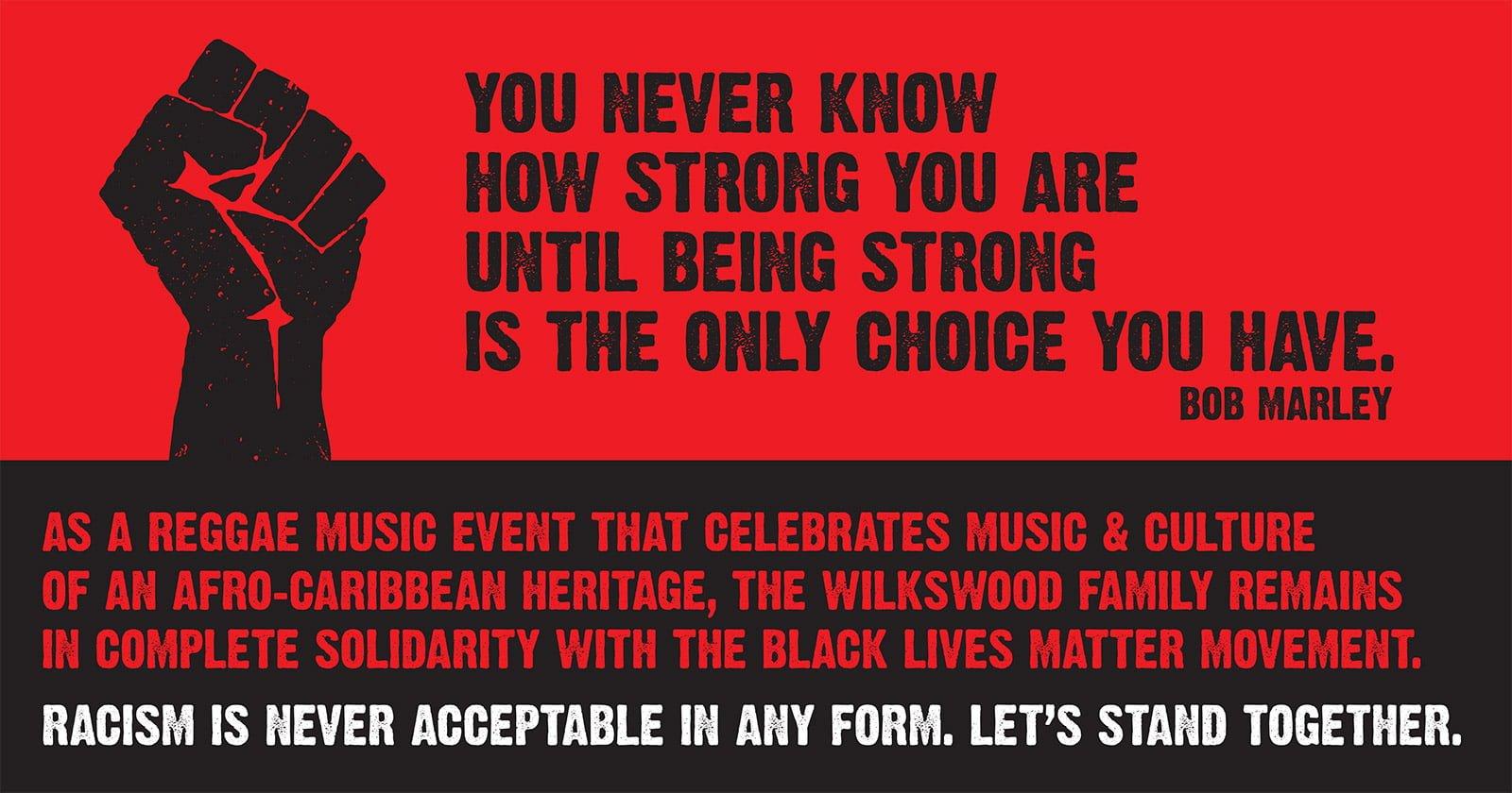 Wilkswood Reggae Festival supports Black Lives Matter