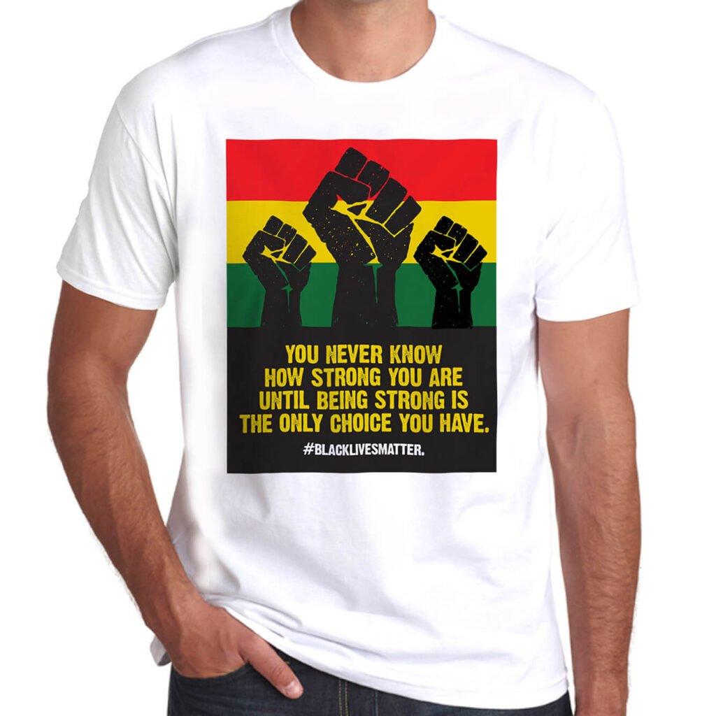 Wilkswood Reggae Festival Black Lives Matter T-Shirt White Front