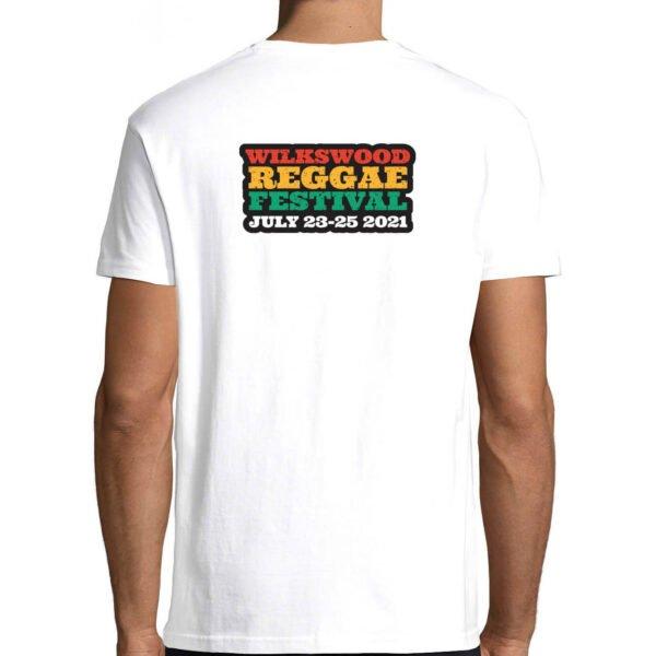 Wilkswood Reggae Festival Black Lives Matter T-Shirt White Rear