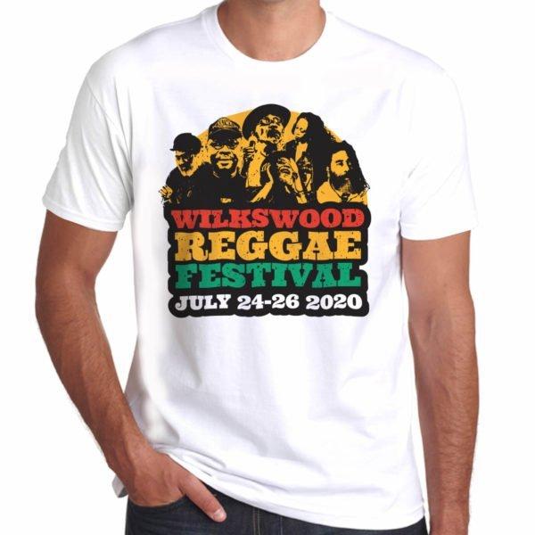 Wilkswood Reggae Festival 2020 Official Logo T-Shirt - White