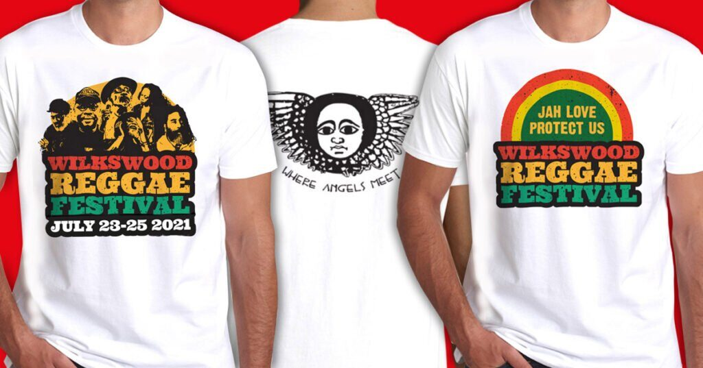 Wilkswood Reggae Festival 2021 Official T-Shirts Available Online