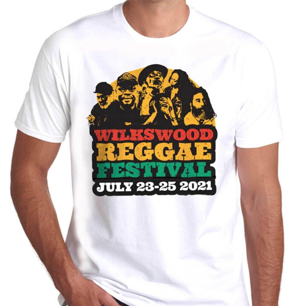 Wilkswood Reggae Festival 2021 Official Logo T-Shirt - White