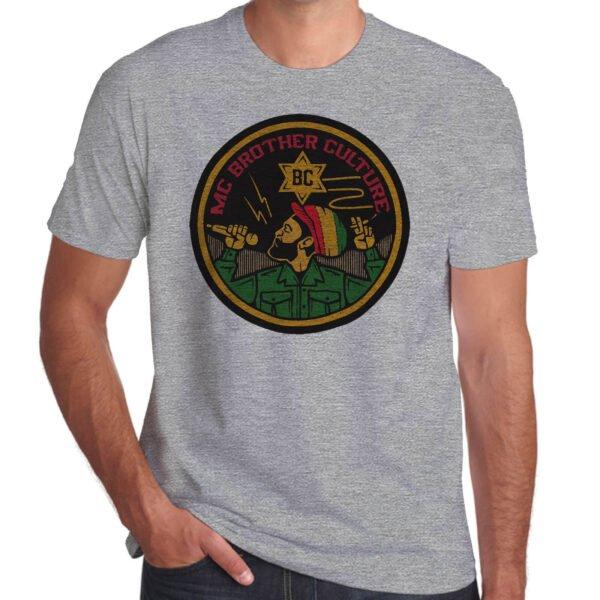 Wilkswood Reggae Festival   Brother Culture T-Shirt   Grey Marl
