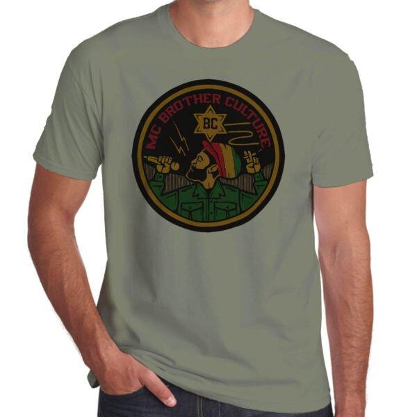 Wilkswood Reggae Festival   Brother Culture T-Shirt   Khaki