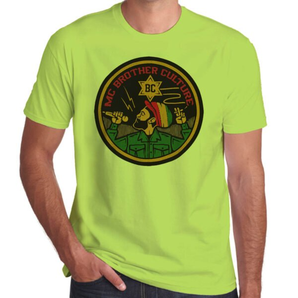 Wilkswood Reggae Festival   Brother Culture T-Shirt   Lime Green