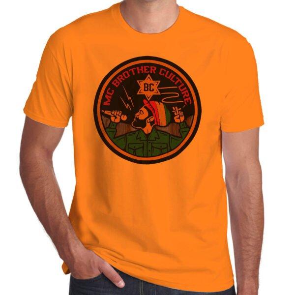Wilkswood Reggae Festival   Brother Culture T-Shirt   Orange
