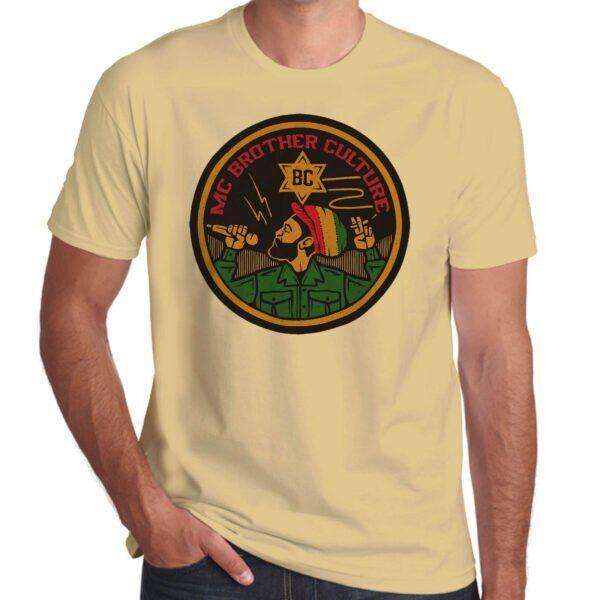 Wilkswood Reggae Festival | Brother Culture T-Shirt | Sand