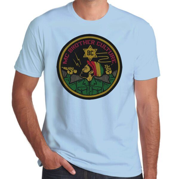 Wilkswood Reggae Festival | Brother Culture T-Shirt | Sky Blue