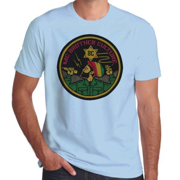 Wilkswood Reggae Festival   Brother Culture T-Shirt   Sky Blue