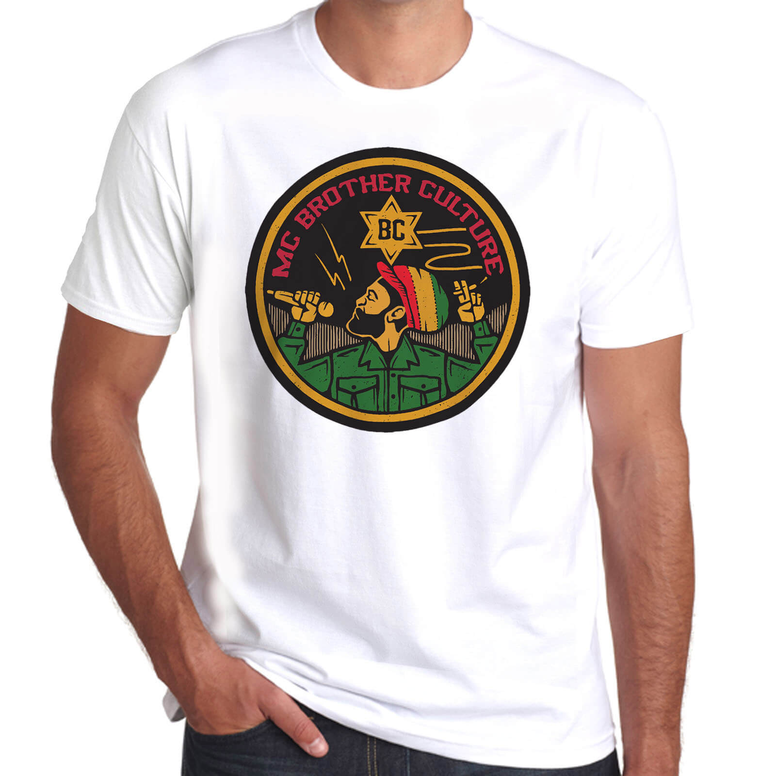 Wilkswood Reggae Festival | Brother Culture T-Shirt | White