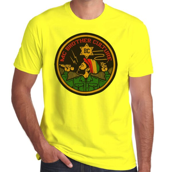 Wilkswood Reggae Festival   Brother Culture T-Shirt   Yellow