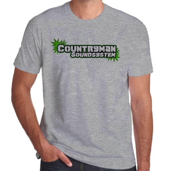Wilkswood Reggae Festival   Countryman Sound System T-Shirt   Grey Marl