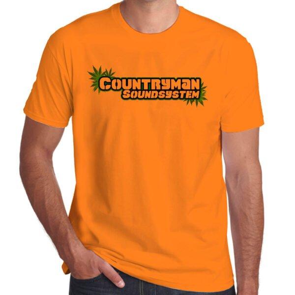 Wilkswood Reggae Festival   Countryman Sound System T-Shirt   Orange