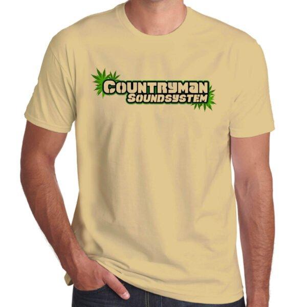 Wilkswood Reggae Festival   Countryman Sound System T-Shirt   Sand
