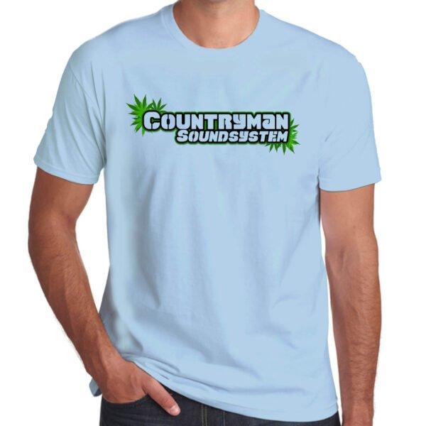 Wilkswood Reggae Festival   Countryman Sound System T-Shirt   Sky Blue