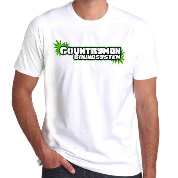 Wilkswood Reggae Festival   Countryman Sound System T-Shirt   White