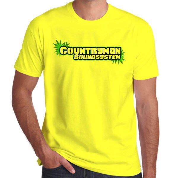 Wilkswood Reggae Festival   Countryman Sound System T-Shirt   Yellow