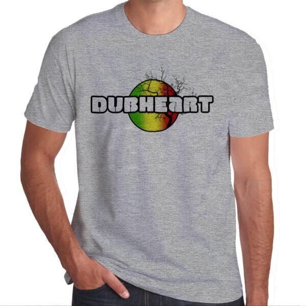 Wilkswood Reggae Festival | Dubheart T-Shirt | Grey Marl