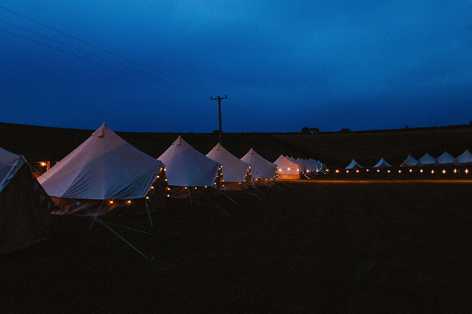 New Forest Bell Tents at Wilkswood Reggae Festival