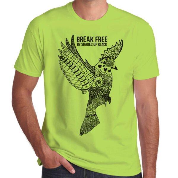 Brother Culture & Paul Fox | Break Free T-Shirt | Lime Green