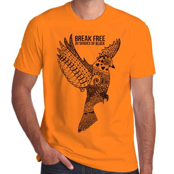 Brother Culture & Paul Fox | Break Free T-Shirt | Orange