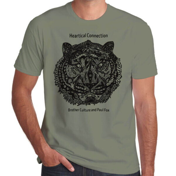 Brother Culture & Paul Fox | Heartical Connection T-Shirt | Khaki