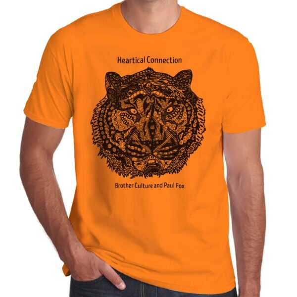 Brother Culture & Paul Fox | Heartical Connection T-Shirt | Orange